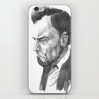 lincoln iPhone & iPod Skins featuring Lincoln 50 by David Sparvero