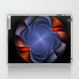 Colorful fractal flower. Laptop & iPad Skin