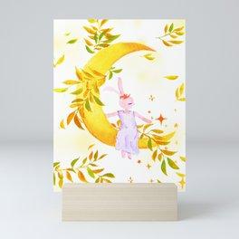 Peanut's Rabbit - Moonlight Mini Art Print
