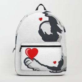 Funny dabbing Husky for Valentines Day Backpack