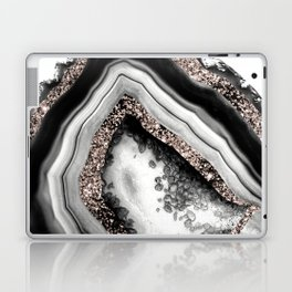 Agate Rose Gold Glitter Glam #4 #gem #decor #art #society6 Laptop & iPad Skin
