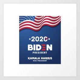Biden for president and Kamala for vice president, yes! Art Print