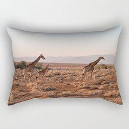 Giraffes in savannah - South Africa Rectangular Pillow
