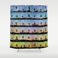 superhero Shower Curtains featuring Superhero Kids by Andy Fairhurst Art