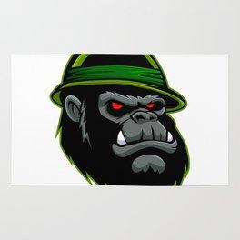 Military Gorilla Head Rug