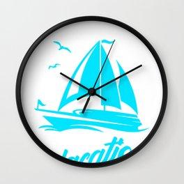 Vacation Holidays Summer Sun Palm Beach Laze Gift Wall Clock