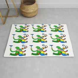 """Multiplied Twin Jugglers In Color for Kids  """"Paper Drawings/Paintings"""" Rug"""