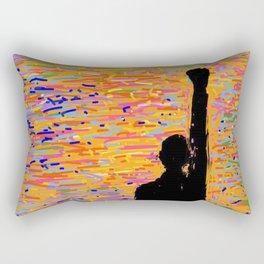 Rising Peace Advocate - Fist - Black Lives Matter Art Rectangular Pillow