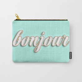 Bonjour typography Carry-All Pouch