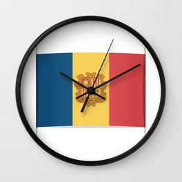 Flag of Andorra, officially the Principality of Andorra. Wall Clock