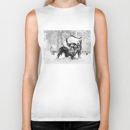 The Charging Bull, In the snow. Biker Tank