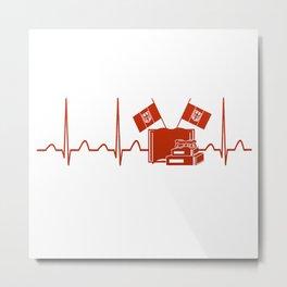 German Teacher Heartbeat Metal Print