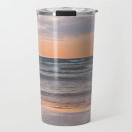 Peachy Keen Sunset Scene Travel Mug