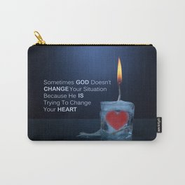 God Changes Hearts Carry-All Pouch