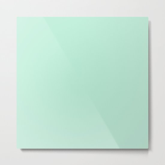 Mint Green Metal Print