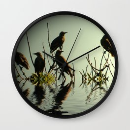 Starling Sunset Wall Clock