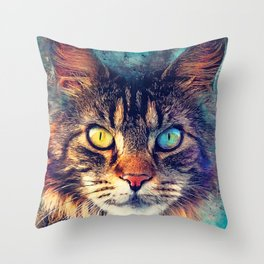 cat Friday #cat #cats #animals Throw Pillow