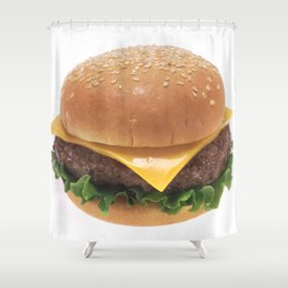 Cheeseburger Shower Curtain