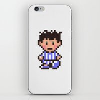 earthbound iPhone & iPod Skins featuring Ness (Pajamas) - Earthbound / Mother 2 by Studio Momo╰༼ ಠ益ಠ ༽