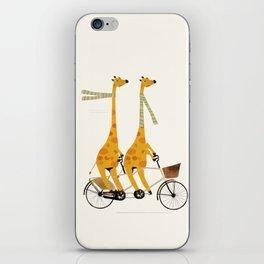 lets tandem giraffes iPhone Skin
