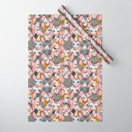 diverse sphynx cat allover print Wrapping Paper