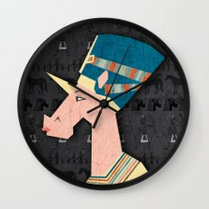 Queen Nefertiti Unicorn Wall Clock