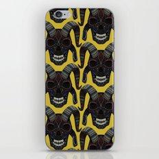 demon skull ochre iPhone & iPod Skin