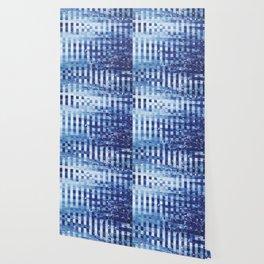 Nautical pixel abstract pattern Wallpaper
