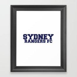 College - Blue Framed Art Print