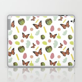 butterflies and plaid Laptop & iPad Skin
