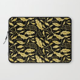 Art Deco Nouveaux Ornate Leaf Pattern Laptop Sleeve