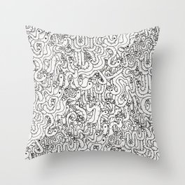 Oodles of Worms Throw Pillow