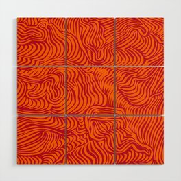 orange red flow Wood Wall Art