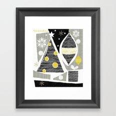 achromatic holidays Framed Art Print
