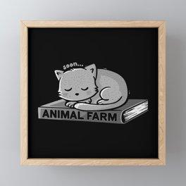 Animal Farm Black Framed Mini Art Print
