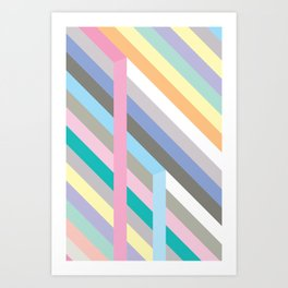 Pastel colors Art Print