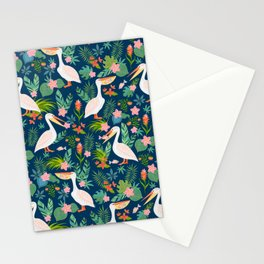 Floral Pelican Stationery Cards