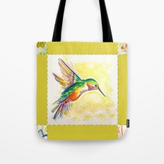 Gold Jewel Box Hummingbird Tote Bag