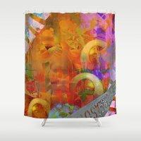 weird Shower Curtains featuring Weird by Ganech joe