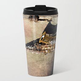 New Orleans French Quarter Saxophone Travel Mug