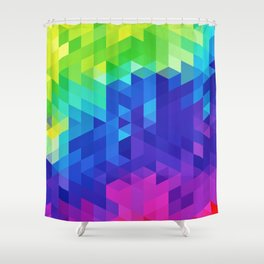 Abstract LGBT Pattern Shower Curtain
