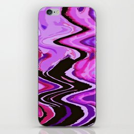 wind heart violet iPhone Skin