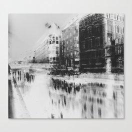 Streets of Berlin - Black & White Canvas Print