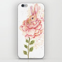 Flower Bunny iPhone Skin