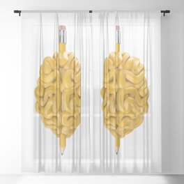 Pencil Brain Sheer Curtain