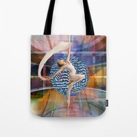 data Tote Bags featuring Data Dancer by Mark Josephson