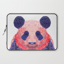 Don't Be Scared To Be Different If You're Already Rare (Panda Animal Painting Stippled Pop Art) Laptop Sleeve
