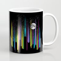 night sky Mugs featuring Night Sky by Li.Ro.Vi