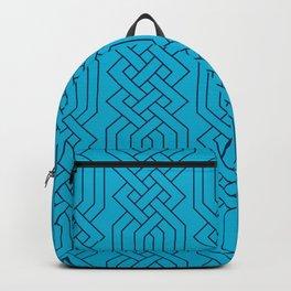 Ornate Aqua Moroccan Geometric Pattern Backpack