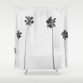 Black & White Palms Shower Curtain
